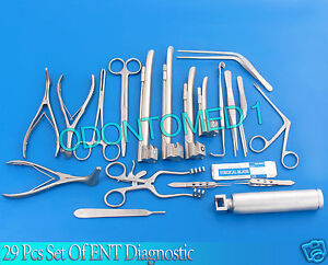 29 Pcs Set Of Ent Surgical Veterinary Diagnostic Surgery Instruments Ds 933