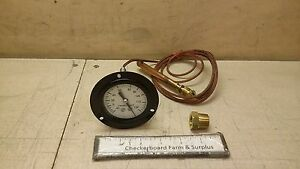 Nos Zeks Capillary Indicating Thermometer 40f 120f 10k90 A53539 Mil t 9955a