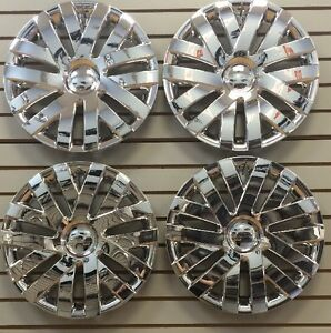 New 16 Chrome Hubcaps Wheelcovers For 2010 2014 Vw Volkswagon Jetta Set Of 4