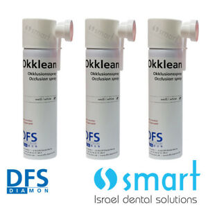 Lot X 3 Dental White Occlusion Spray Dfs Germany Scan Cad Cam White Okklean