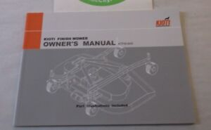 Kioti Finish Mower Owner s Manual Ktfm 84s