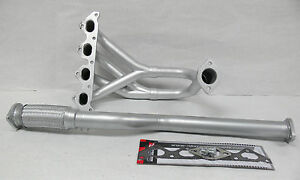 Obx Silver Header Manifold Exhaust For 2003 2007 Hyundai Tiburon Base Gs 2 0l