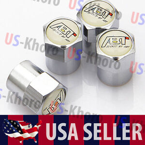 Abt Sportsline Audi Logo Valves Stems Caps Covers Chromed Wheel Tire Emblem Usa