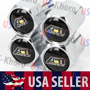 Abt Sportsline Audi Logo Valves Stems Caps Covers Chromed Wheel Tires Emblem Usa