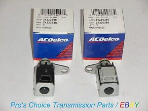 Oem Ac Delco 2 piece Shift Solenoid Kit a 1 2 b 3 4 Fits 4l80e 1991 on