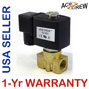 Viton 3 8 Inch 12v Dc Vdc Brass Solenoid Valve Npt Gas Water Air Normally Closed