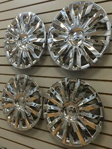 New Vw 2010 2014 Golf 15 Hubcap Wheelcovers Set Of 4 Chrome Am