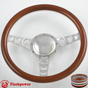 14 Billet Steering Wheels Wood Half Wrap Chrysler New Yorker Imperial Cordoba
