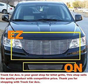 For Dodge Journey 2009 2010 2pc Polished Grille Combo W O Logo Show Replace Bolt