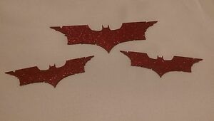 Batman Emblem Stainless Steel Combo Red Reflective Finish New Free Ship