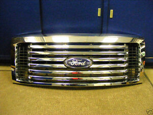2009 2010 2011 2012 2013 2014 Ford Oem F150 Chrome Billet Grille W Emblem