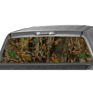 Camo Oak Ambush Rear Window Graphic Decal Tint Sticker Truck Suv Ute Camouflage