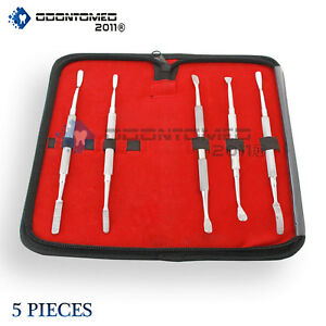 Bone File Kit Dental Surgical Orthopedic Veterinary Surgery Instruments 5 Pcs