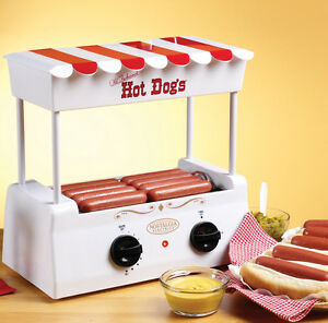 Nostalgia Electrics Vintage Collection Hot Dog Roller With Bun Warmer Hdr565 New