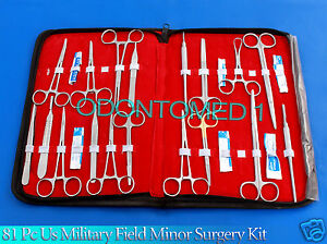 81 Pc Us Military Field Minor Surgery Surgical Veterinary Dental Instrument Kit