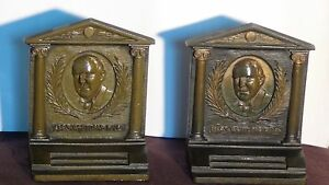 Bradley And Hubbard Cast Iron Bookends Of James Whitcomb Riley The Hoosier Poet