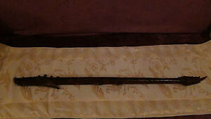 Antique 19 C Large Asian Bovine Bone Carved Dragon Tribal 2 Pieces Blowgun