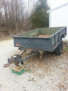 Military Utility Cargo Trailer W pintle Hitch Great Tires