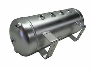 3 Gallon Aluminum Air Tank Silver 8 Ports For Bags Air Ride Fbss