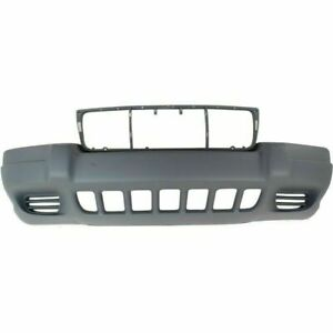 New Ch1000264 Textured Gray Front Bumper Cover For Grand Cherokee 99 03