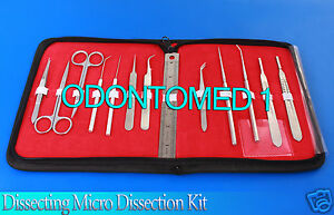 Dissecting Micro Dissection Kit Set Bio Student Lab Tool Teachers Choice odm 595