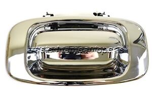 For Chevy Gmc Rear Lift Tailgate Handle With Bezel Trim Set Chrome Abs