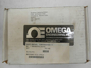 New Omega Engineering Hh 22 Thermometer Type K j Dual Input