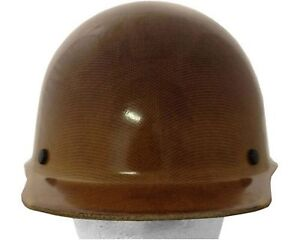 Msa Skullgard Cap Style tan Fiberglass Hard Hat 3 Different Suspensions