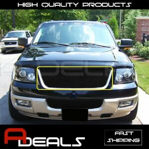 Ford Expedition 2003 04 05 2006 Black Upper Cutout Billet Grille Grill Insert