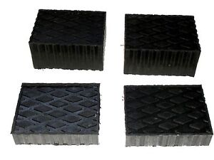 Auto Lift Rolling Jack Rubber Block Pad Adapter Set Of 4 2 1 1 2 And 2 3