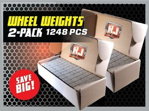 2 Boxes Wheel Weights 1 4 Oz Stick On Adhesive Tape 312 Oz 1248 Pieces