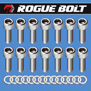 Bbc Valve Cover Bolts Stainless Steel Kit Big Block Chevy 396 402 427 454 502 Gm