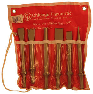 Chicago Pneumatic Tool Llc Ca155807 6 Piece Air Hammer Chisel Kit