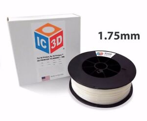 Ic3d 1 75mm 5lb 2 3kg Natural Abs 3d Printer Filament Made In Usa