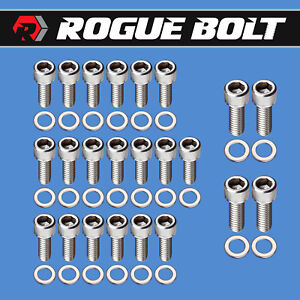 Bbf Oil Pan Bolts Stainless Steel Kit Big Block Ford 429 460 Car F Series