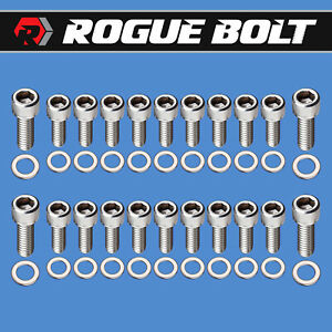 Sbf Oil Pan Bolts Stainless Steel Kit Small Block Ford 260 289 302 351w 5 0l