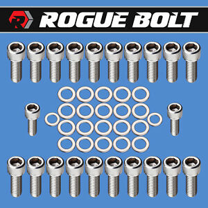 Bbc Oil Pan Bolts Stainless Steel Kit Big Block Chevy 348 396 402 409 427 454 Gm