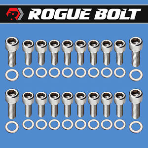 Ford 351c 351m 400m Oil Pan Bolts Stainless Steel Kit Cleveland Cobra Jet