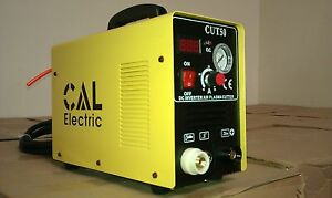 Cal Electric Air Plasma Cutter New 50amp Cut50 Inverter 60 Consumables Us Sell