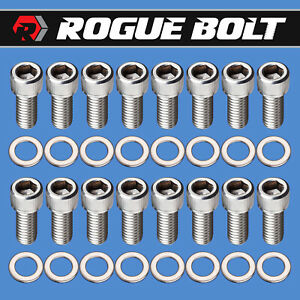 Bbc Header Bolts Stainless Steel Kit Big Block Chevy 396 402 427 454 502 Hot Rod