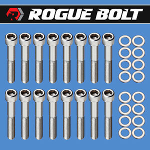 Ford 351w Intake Manifold Bolts Stainless Steel Kit Small Block Ford Pre 77 Sbf
