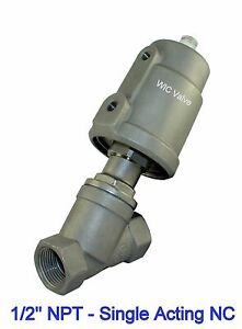 Single Acting Air Actuated Angle Seat Pneumatic Steam Valve 1 2 Half Inch Nc