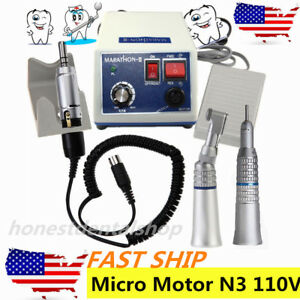 Dental Lab Marathon Electric Micro Motor N3 Unit contra Angle straight Handpiece