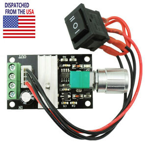 6v 28v Max 3a 80w Pwm Dc Motor Speed Controller Reversible Switch Governor