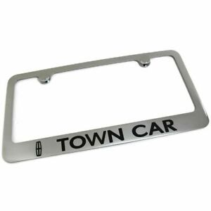 Lincoln Town Car License Plate Frame Number Tag Engraved Chrome Plated Brass