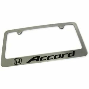 Honda Accord License Plate Frame Number Tag Rotary Engraved Chrome Plated Brass