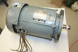Westinghouse 3 Hp Electric Motor 230 460 Volt 1730 Rpm 3 Phase