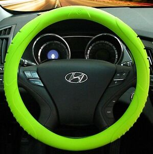 Masada Premium Silicone Car Steering Wheel Cover green One Size Fits All