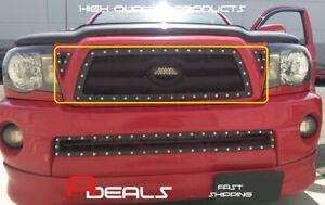 For Toyota Tacoma 05 06 07 08 09 2010 Black Wire Mesh Rivet Grille Grill Insert