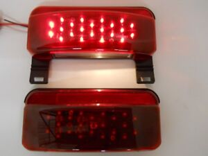 Led Rv Camper Trailer Stop Turn Brake Tail Lights License Light Black Base